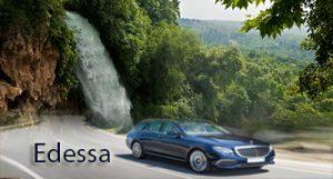 Taxi transfer de l'aéroport de Thessalonique à Edessa