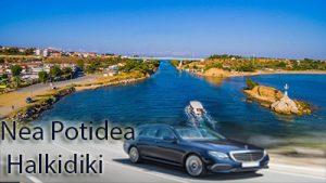 Flughafen taxi transfers fahrt nach Nea Potidea Chalkidiki