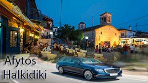 Flughafen taxi transfers fahrt nach Afitos Chalkidiki