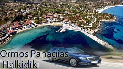 Flughafen taxi transfers fahrt nach Ormos Panagias Chalkidiki