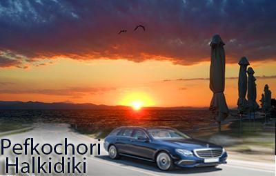Flughafen taxi transfers fahrt nach Pefkochori Chalkidiki