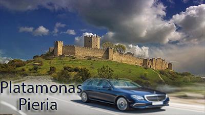 Flughafen taxi transfers fahrt nach Platamonas Pieria