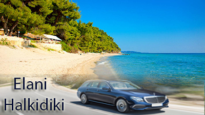 Flughafen taxi transfers fahrt nach Elani Chalkidiki