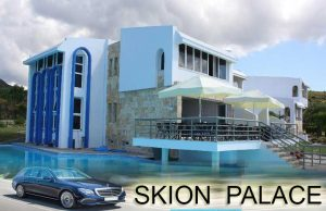 airport taxi transfers to Skion Palace HotelNea Skioni