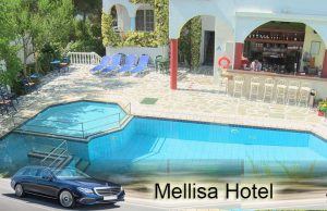 Airport taxi transfers to Mellisa Hotel Psakoudia