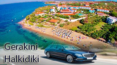Flughafen taxi transfers fahrt nach Gerakini Chalkidiki