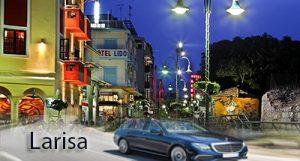 Taxi transfer de l'aéroport de Thessalonique à Larisa