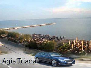 Flughafen taxi transfers fahrt nach Agia Triada