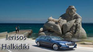 Flughafen taxi transfers fahrt nach Ierissos Chalkidiki