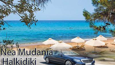 Flughafen taxi transfers fahrt nach Nea Moudania Chalkidiki