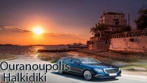 Flughafen taxi transfers fahrt nach Ouranoupoli Chalkidiki