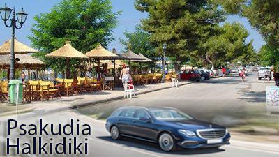 Flughafen taxi transfers fahrt nach Psakoudia Chalkidiki