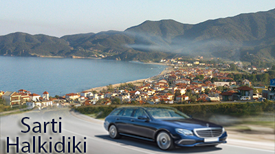 Flughafen taxi transfers fahrt nach Sarti Chalkidiki