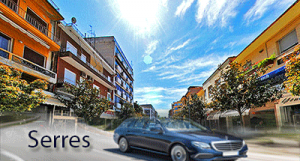 Taxi transfer de l'aéroport de Thessalonique à Serres