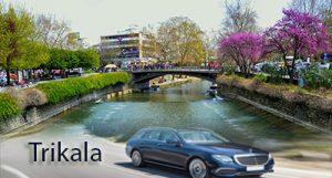 Flughafen taxi transfers fahrt nach Trikala