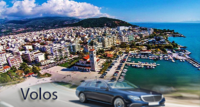 Flughafen taxi transfers fahrt nach Volos